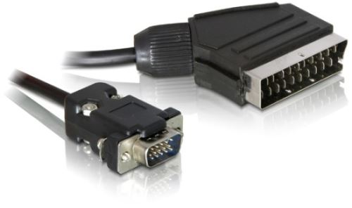 DeLock kabel 2m ze SCART na VGA, 65028
