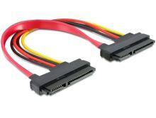 Kabel SATA 22pin > 22 pin samice/samice, délka 20 cm