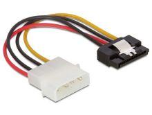 Power Adapter Molex 4-pin na SATA 15-pin, 12cm, kovová západka