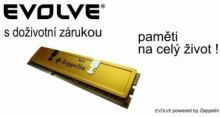 EVOLVEO by Zeppelin DDR 2GB 400MHz (KIT 2x1GB) EVOLVEO GOLD (s chladičem, box), CL3 - testováno pro DualChannel (doživotní záruka), 1G/400/XK2 EG