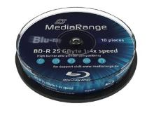 MEDIARANGE BD-R BLU-RAY 25GB 4x spindl 10ks Inkjet Printable MR496