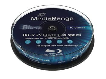 MEDIARANGE BD-R BLU-RAY 25GB 4x spindl 10ks Inkjet Printable