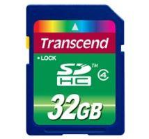 Transcend 32GB SDHC (Class 4) paměťová karta