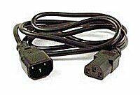 PremiumCord prodlužovací kabel napájení 240V, délka 1m IEC C13/C14, kps1