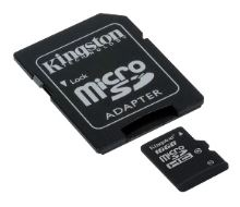 KINGSTON 32GB microSDHC Class 4 karta s adaptérem, SDC4/32GB