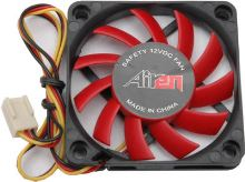 AIREN FAN RedWings60 (60x60x10mm, 17,5dBA) 3pin 12V, AIREN - FRW60