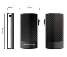 Transcend 8GB JetFlash 560, USB 2.0 flash disk, stylový design, černo/šedý