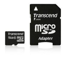 Transcend 16GB microSDHC (Class 10) paměťová karta (s adaptérem)