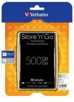 "Akce!!! VERBATIM HDD 2.5"" Store 'n' Go 500GB USB 3.0, Black , 53029"