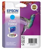 EPSON cartridge T0802 cyan (kolibřík)