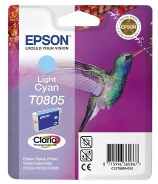 EPSON cartridge T0805 light cyan (kolibřík)