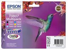 EPSON cartridge T0807 (6color) multipack (kolibřík), C13T08074011