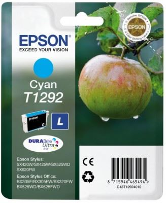 EPSON cartridge T1292 cyan (jablko), C13T12924011