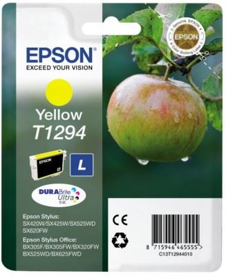 EPSON cartridge T1294 yellow (jablko), C13T12944011