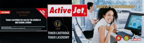 ActiveJet toner OKI Page C5800, C5900 Black NEW 100% - 6000 str.     AT-5800BN
