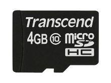 Transcend 4GB microSDHC (Class 10) paměťová karta (bez adaptéru), TS4GUSDC10