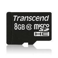 Transcend 8GB microSDHC (Class 10) paměťová karta (bez adaptéru) TS8GUSDC10