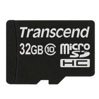 Transcend 32GB microSDHC (Class 10) paměťová karta (bez adaptéru), TS32GUSDC10
