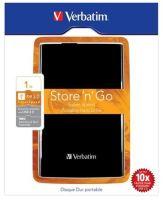 "Akce!!! VERBATIM HDD 2.5"" 1TB Store 'n' Go USB 3.0 Black, 53023"