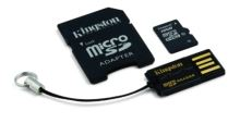 KINGSTON 16GB micro SD + SD adaptér + microSD čtečka Gen2 class 10
