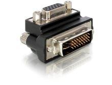 Delock adaptér DVI samec -> VGA samice pravoúhlý, 65172