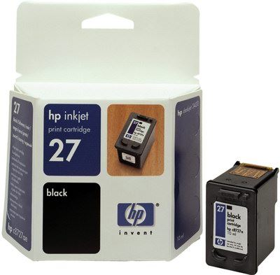 HP C8727AE Ink Cart No.27 pro DJ 3325, 3420, 3550, 3650, 10ml, Black, C8727AE#UUQ