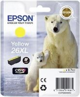 EPSON cartridge T2634 yellow (lední medvěd) XL, C13T26344010