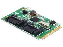 Delock MiniPCIe I/O PCIe full size 2 x SATA 6 Gb/s, 95233