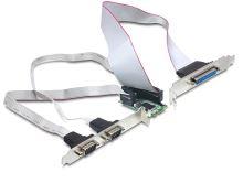 Delock MiniPCIe I/O PCIe full size 2 x seriový RS-232, 1 x paralelní