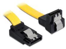 Delock kabel HDD SATA 20 cm pravoúhlý nahoru/dolů, žlutý