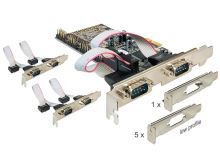 Adaptér PCI Express x1 6x sériový port + low profile