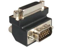 Delock Adaptér DVI 24+5 pin samice > VGA 15 pin samec 90°, 65425