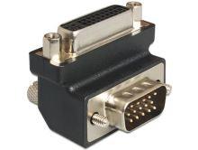 Delock Adaptér DVI 24+5 pin samice > VGA 15 pin samec 270°, 65426