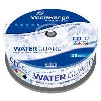 MEDIARANGE CD-R 700MB 52x Waterguard Photo Inkjet Fullprintable spindl 25pck/bal, MRPL512