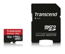 Transcend 16GB microSDHC UHS-I 400x Premium (Class 10) paměťová karta (s adaptérem) TS16GUSDU1