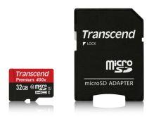 Transcend 32GB microSDHC UHS-I 400x Premium (Class 10) paměťová karta (s adaptérem) TS32GUSDU1