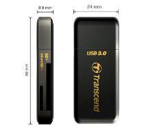 Transcend RDF5 USB 3.0 čtečka paměťových karet SDHC (UHS-I)/SDXC (UHS-I)/microSDHC (UHS-I)/microSDXC (UHS-I), černá TS-RDF5K