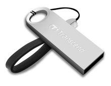 Transcend 8GB JetFlash 520S, USB 2.0 flash disk, malé rozměry, stříbrný kov