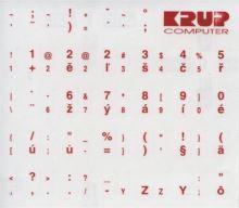 Premium CZ přelepky pro klávesnice s cizím layoutem - červené písmo, průhledné pozadí pkczr