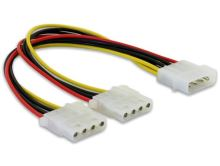Delock Y napájecí kabel Molex samec > 2x Molex 4pin samice