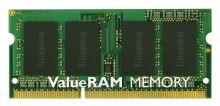 KINGSTON 4GB 1333MHz DDR3 Non-ECC CL9 SODIMM SR X8 SODIMM, KVR13S9S8/4