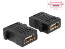 Delock Adaptér HDMI A samice > samice s otvory pro šrouby, 65509