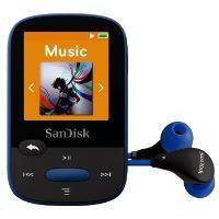 SanDisk Clip Sports 8 GB, FM rádio, MP3, WMA, microSDHC, modrá
