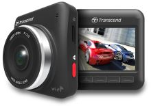 """Transcend DrivePro 200 autokamera, 2.4""""LCD, Full HD 1080p, úhel 160°, 16GB microSDHC, G-Senzor, Wi-Fi, s lepícím držákem, TS16GDP200"""
