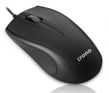 Crono OP-631 optická myš, černá, USB,DPI 1000 CM631