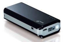 GENIUS napájecí zdroj Power Bank ECO-u622/ 6000mAH/ LED svítilna/ černý, 39800011101