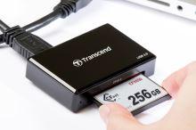 Transcend USB 3.0 čtečka paměťových karet, černá  CFast 2.0/CFast 1.1/CFast 1.0 TS-RDF2