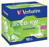 VERBATIM CD-RW 80 12x box 10pck/BAL, 43148