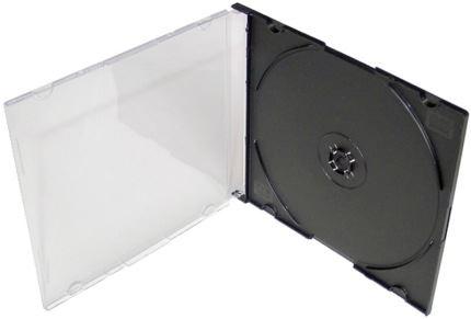 COVER IT Krabička na 1x CD - černá - slim, 27036