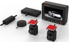 """CEL-TEC K1S DUAL - duální palubní kamera do auta 2x Full HD, GPS, microSD/SDHC, WDR, 2.7"""" LCD, černá, 1501-003"""
